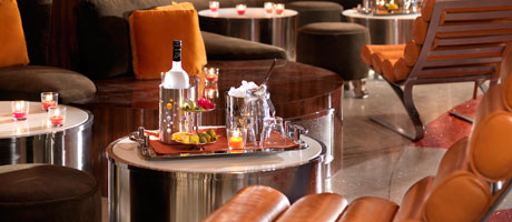 Table side bottle service at 4949 Bar inside Santa Fe Station Hotel & Casino