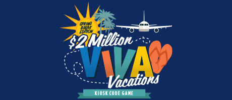 Viva Vacations Kiosk Code Game