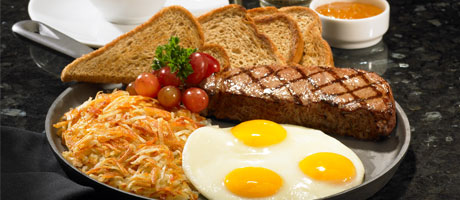 The Grand Cafe In Las Vegas At Boulder Station Featuring Steak And Eggs