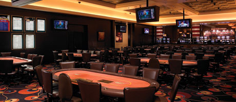 The Poker Room inside Santa Fe Station Hotel & Casino