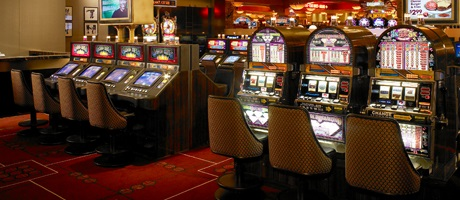 Slot machines inside Santa Fe Station Hotel & Casino