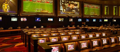 Race and Sportsbook big screens inside Santa Fe Station Hotel & Casino